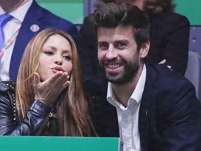 Shakira y Gerard Piqué, en un partido de tenis en Madrid en noviembre de 2019.
