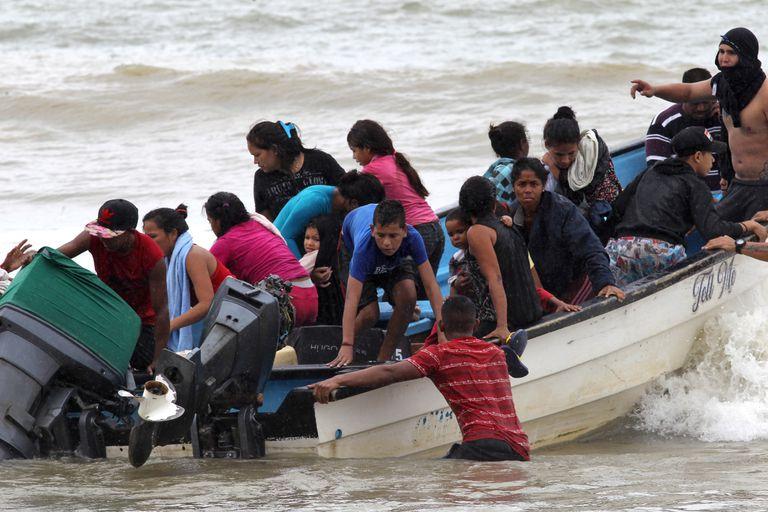 A boat with Venezuelan migrants, last November.