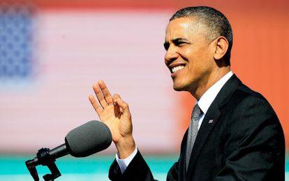 El presidente Obama durante un discurso en Nueva Orleans.