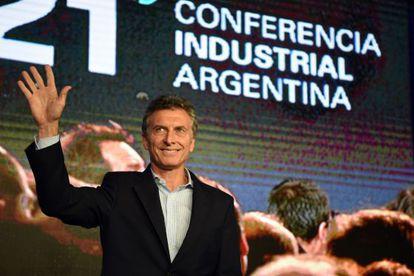 Mauricio Macri, presidente de Argentina, este lunes en la conferencia anual de la industria de su país.