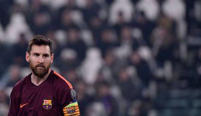Messi, en el Juventus Stadium.