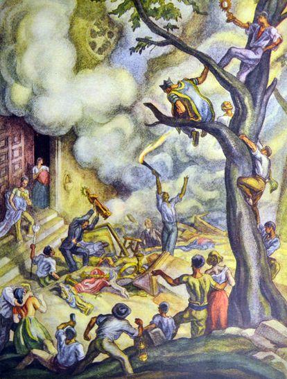 'Guerra civil española: conventos incendiados', de Carlos Sáenz de Tejada.