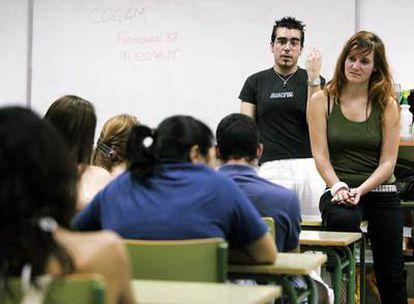 Charla sobre diversidad sexual en el instituto Duque de Rivas en Madrid.