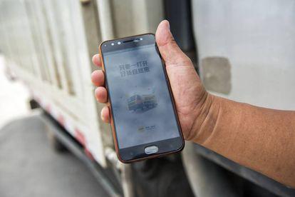 La app Huochebang, que usan los camioneros.