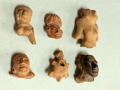 Piezas arqueológicas que regresarán a México desde Estados Unidos.