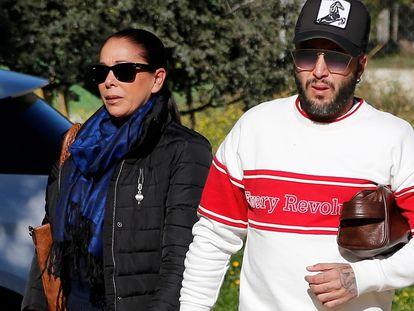 Isabel Pantoja y su hijo Kiko Rivera en enero de 2019 en Madrid.