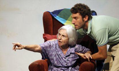 Teresa Lozano y Àlex Cantó, en un ensayo