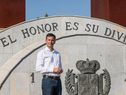 Juan Fernández, presidente de la AUGC, en Mérida (Badajoz).