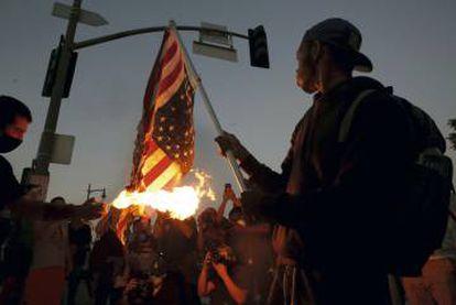 Disturbios en Los Ángeles durante las protestas recientes por el homicidio de George Floyd.