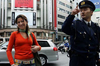 Sara Baras posa en el barrio de Ginza.