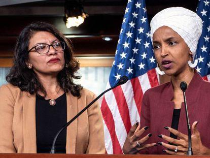 Las congresistas Rashida Tlaib e Ilhan Omar, el pasado julio.
