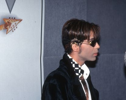El músico Prince llega a un evento en Nueva York en 1993, en la época en la que estaba grabando el extraño álbum 'Come'.