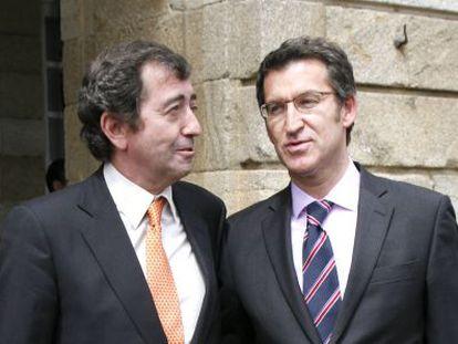 Benigno López junto al presidente de la Xunta