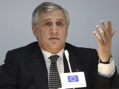 Antonio Tajani, en rueda de prensa en Madrid este viernes