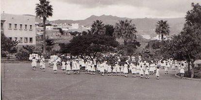 Imagen de la casa cuna de Tenerife, en la que Liberia vivió hasta los ocho años cuando fue entregada a un matrimonio de Alcoi.