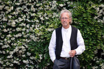El escritor Peter Handke, anoche en el Instituto Goethe, de Madrid.