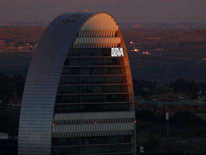 Edificio del BBVA, en Madrid.