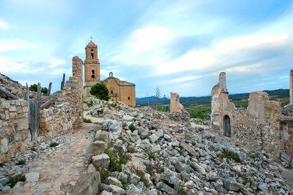 La parte histórica de Corbera d'Ebre.