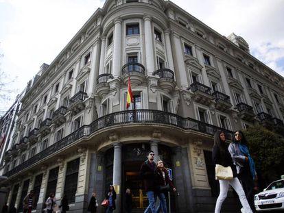 Sede de la Comision Nacional de los Mercados y la Competencia (CNMC), en Madrid