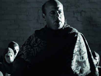Juan Estelrich como el sheriff de Londres en 'Campanadas a medianoche' de Orson Welles.