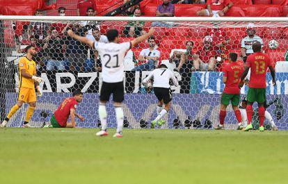 Havertz marca el tercer gol de Alemania ante Portugal este sábado en el Allianz Arena.