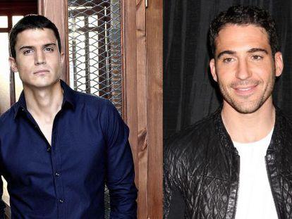 Los actores Álex González y, a la derecha, Miguel Ángel Silvestre.