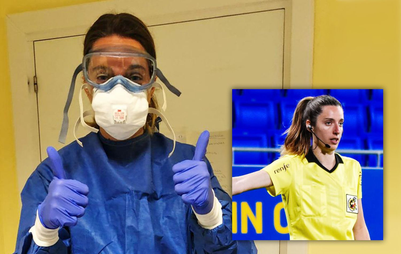 Iragartze Fernández, enfermera en un centro de salud de Bilbao y linier de la Liga femenina.