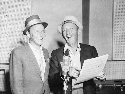 Sinatra y Bing Crosby, durante su primera grabación juntos para el recién nacido sello Reprise.
