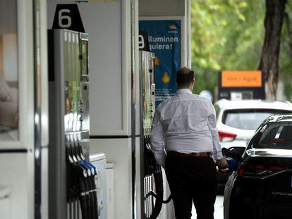 Una gasolinera de Madrid, en una fotografía de mayo de 2020.
