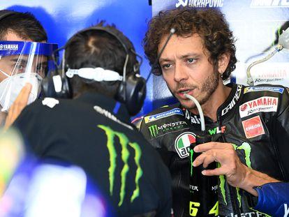 Valentino Rossi, durante el test que realizaron todos los equipos este miércoles en Jerez.