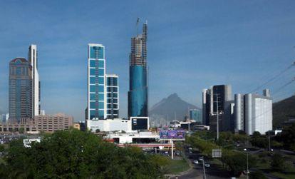 Vista panorámica de San Pedro Garza García, en el norte de México.