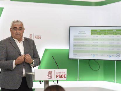 El portavoz socialista de Hacienda en el Parlamento andaluz, Antonio Ramírez, la semana pasada.