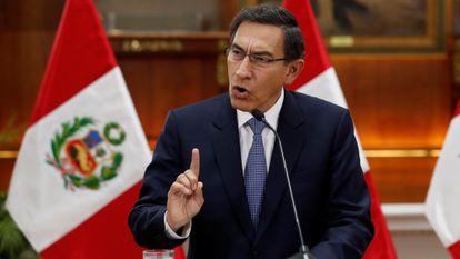El presidente de Perú, Martín Vizcarra, en una imagen de septiembre pasado.
