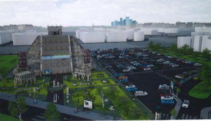 Imagen de la pirámide que quiere construir el artista Nacho Cano en el barrio madrileño de Hortaleza.