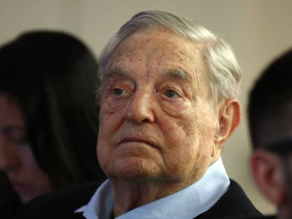 George Soros, fundador de la Fundación Open Society, el martes en París en la reunión anual del European Council On Foreign Relations.