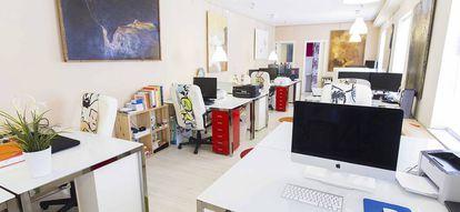 Los coworkers de este espacio trabajan, fundamentalmente, en arquitectura y diseño, y sus instalaciones son muestra de ello