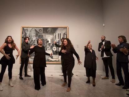 'Compases, silencios y libertad. Performance para las Meninas de Picasso',  con la participación de la familia de Enrique Morente, en el Museo Picasso de Barcelona, en mayo de 2019.