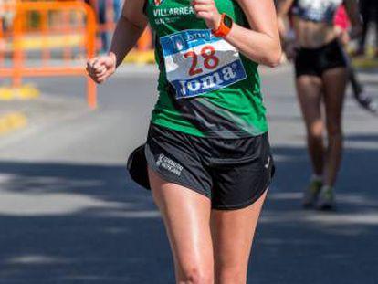 Julia Takacs Julia Takacs, en el Campeonato de España de 50km, en marzo.