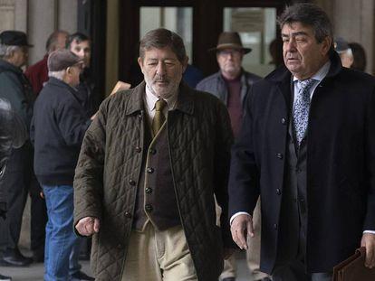 El ex director general de Trabajo andaluz Javier Guerrero, en la Audiencia este jueves.
