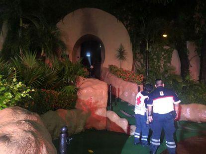 La discoteca Baby'O en Acapulco Guerrero, tras el incendio la noche del 29 de septiembre.