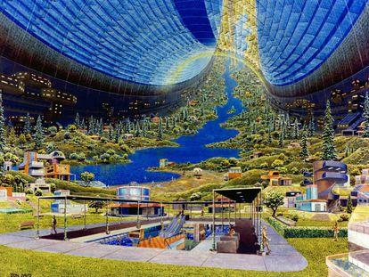El proyecto 'Toro de Stanford' tal y como lo dibujó Donald E. Davis en los años setenta.