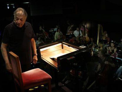 Zubin Mehta, durante un ensayo de 'Otello'  en el Palau de les Arts.