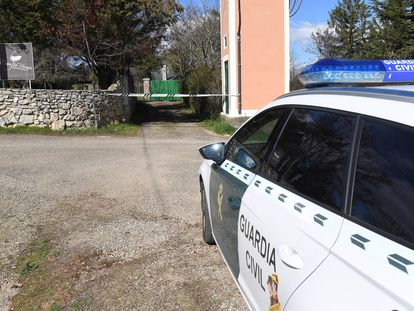 Un coche de la Guardia Civil, en la provincia de León.