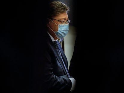 El presidente de la Generalitat, Ximo Puig, en una reunión el pasado 21 de enero.