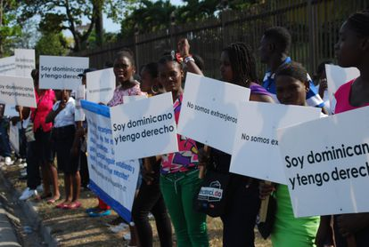 Protesta de dominicanos de origen haitiano.