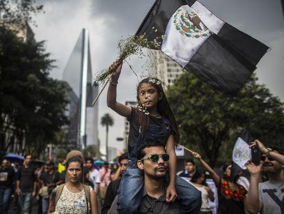 Periodistas protestan el pasado agosto en Ciudad de México por el asesinato de profesionales.