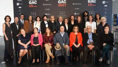 Los premiados y el jurado de los GAC 2017.