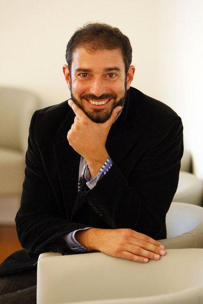 Pere Estupinyá, en el paraninfo de la UPV.