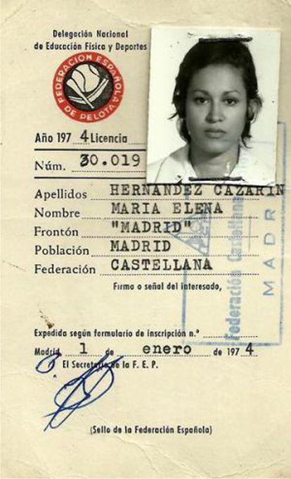 Carnet Federación 1974