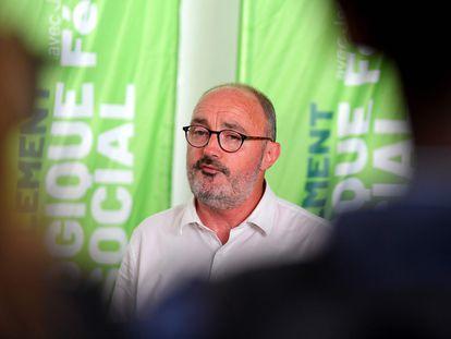 Jean-Laurent Félizia, el candidato de la izquierda en la región francesa de Provenza-Alpes-Costa Azul, este lunes en Marsella.